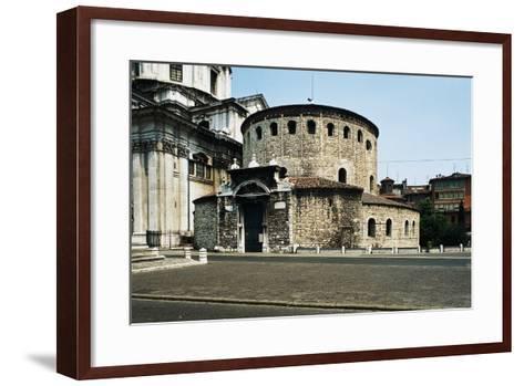 Old Cathedral (Duomo Vecchio) or Rotunda, 9th Century, Brescia, Lombardy, Italy--Framed Art Print