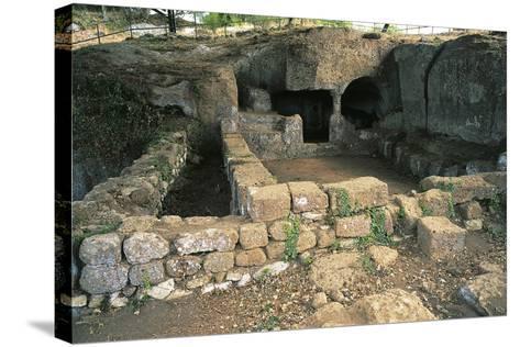 Ruins of Bronze Age Building, 12th Century Bc, Luni Sul Mignone, Lazio, Italy--Stretched Canvas Print