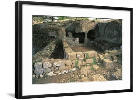 Ruins of Bronze Age Building, 12th Century Bc, Luni Sul Mignone, Lazio, Italy--Framed Art Print