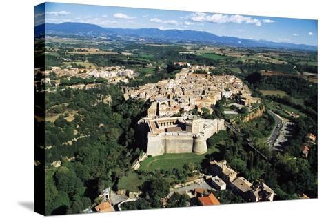 Sangallo Fort (15th-16th Century) and Town of Civita Castellana, Lazio, Italy--Stretched Canvas Print