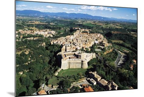 Sangallo Fort (15th-16th Century) and Town of Civita Castellana, Lazio, Italy--Mounted Photographic Print