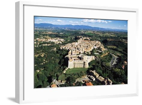 Sangallo Fort (15th-16th Century) and Town of Civita Castellana, Lazio, Italy--Framed Art Print