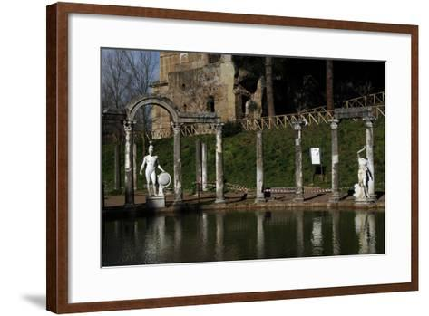 Hadrian's Villa. the Canopus with the Statue of God Mars. 2nd Century. Italy--Framed Art Print