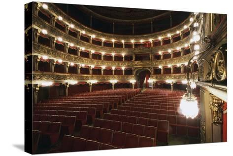 Stalls and Boxes in Carignano Theatre, 18th Century, Turin, Piedmont, Italy--Stretched Canvas Print