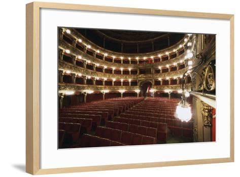 Stalls and Boxes in Carignano Theatre, 18th Century, Turin, Piedmont, Italy--Framed Art Print