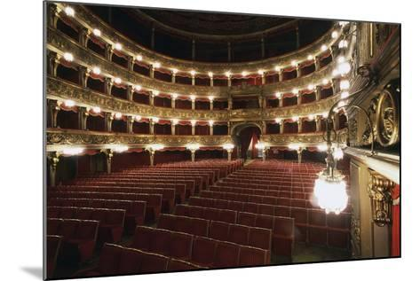 Stalls and Boxes in Carignano Theatre, 18th Century, Turin, Piedmont, Italy--Mounted Photographic Print