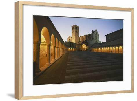 Steps Leading to a Church, Basilica of San Francisco, Assisi, Umbria, Italy--Framed Art Print