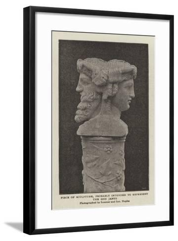 Piece of Sculpture, Probably Intended to Represent the God Janus--Framed Art Print