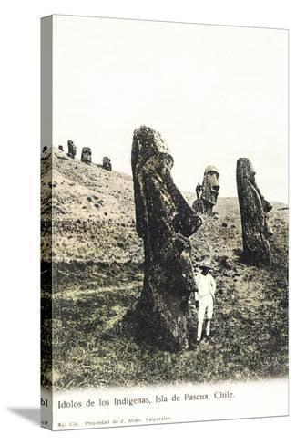Idolos De Los Lndigenas, Isla De Pascua, Chile - Idols of the Indians--Stretched Canvas Print