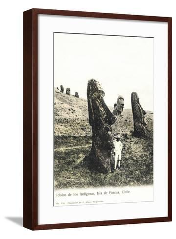 Idolos De Los Lndigenas, Isla De Pascua, Chile - Idols of the Indians--Framed Art Print