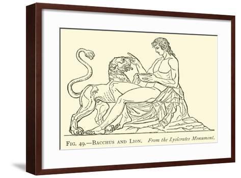 Bacchus and Lion--Framed Art Print