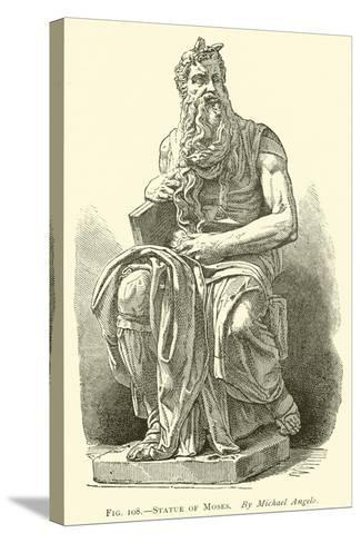 Statue of Moses--Stretched Canvas Print