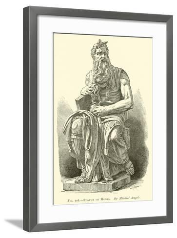 Statue of Moses--Framed Art Print
