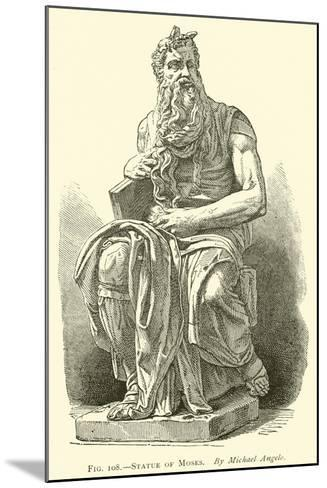 Statue of Moses--Mounted Giclee Print