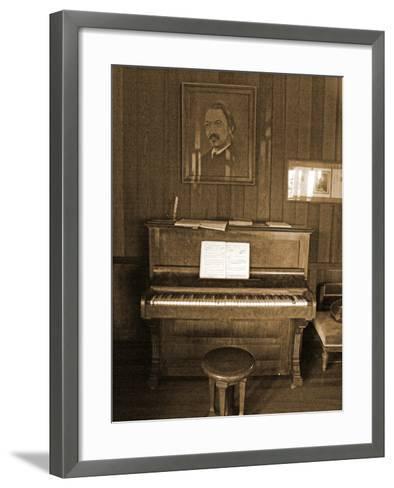 Robert Louis Stevenson's Piano in the Great Hall, Villa Vailima, Apia, Samoa--Framed Art Print