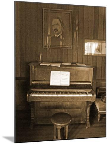 Robert Louis Stevenson's Piano in the Great Hall, Villa Vailima, Apia, Samoa--Mounted Photographic Print