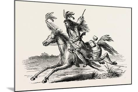 North American Indian on Horseback, USA, 1870s--Mounted Giclee Print