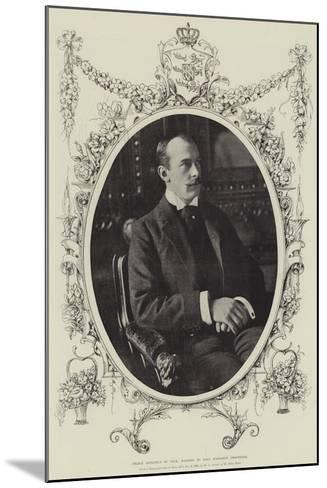 Prince Adolphus of Teck, Married to Lady Margaret Grosvenor--Mounted Giclee Print