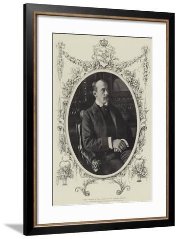 Prince Adolphus of Teck, Married to Lady Margaret Grosvenor--Framed Art Print