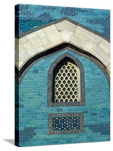 Turkey. Bursa. Yesil Turbe (Green Tomb). Mausoleum of Sultan Mehmed I. Built in 1421. Detail Green---Stretched Canvas Print