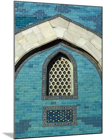 Turkey. Bursa. Yesil Turbe (Green Tomb). Mausoleum of Sultan Mehmed I. Built in 1421. Detail Green---Mounted Photographic Print