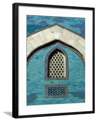 Turkey. Bursa. Yesil Turbe (Green Tomb). Mausoleum of Sultan Mehmed I. Built in 1421. Detail Green---Framed Art Print
