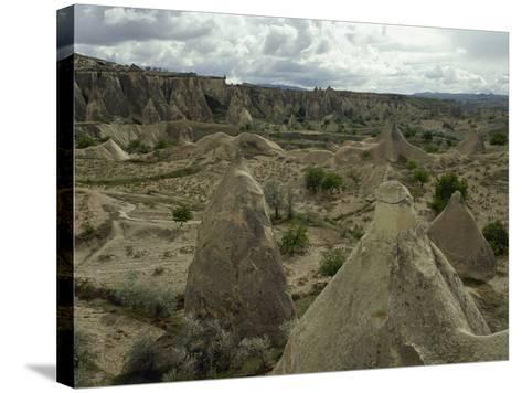 Turkey. Cappadocia. Pasabaglari. Monk's Valley. Fairy Chimney. Detail. Central Anatolia--Stretched Canvas Print