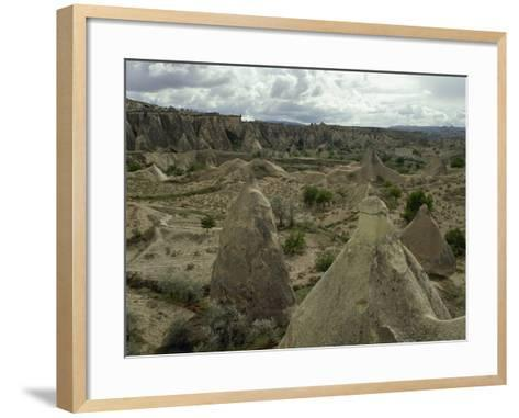 Turkey. Cappadocia. Pasabaglari. Monk's Valley. Fairy Chimney. Detail. Central Anatolia--Framed Art Print