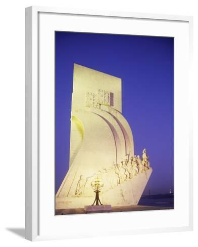 Monument to Discoveries, 1960, on Bank of Tagus River, Belem District, Portugal, Detail--Framed Art Print