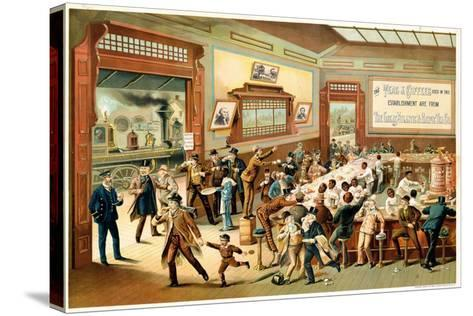 Poster Advertising 'Great Atlantic and Pacific Tea Co.', 1886--Stretched Canvas Print