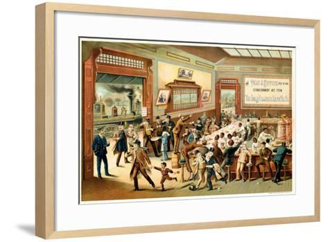 Poster Advertising 'Great Atlantic and Pacific Tea Co.', 1886--Framed Art Print