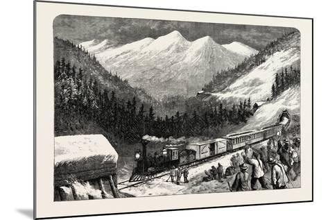 On the Central Pacific Railroad, USA, 1870s--Mounted Giclee Print