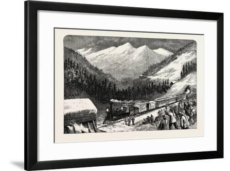 On the Central Pacific Railroad, USA, 1870s--Framed Art Print