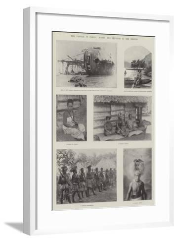 The Trouble in Samoa, Scenes and Sketches in the Islands--Framed Art Print