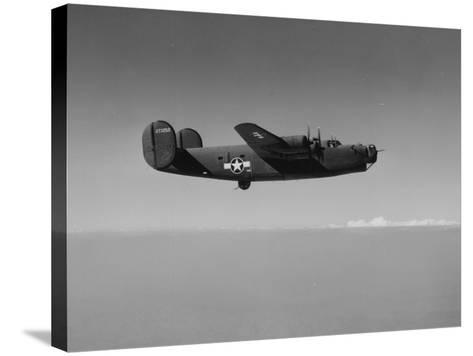 Image of a Wwii U.S. Military Aircraft in Flight Taken from the Side and Slightly Below--Stretched Canvas Print