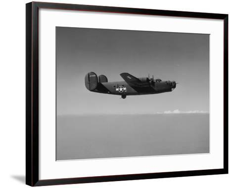 Image of a Wwii U.S. Military Aircraft in Flight Taken from the Side and Slightly Below--Framed Art Print