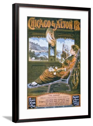 Chicago and Alton Rail Road Poster, C.1885--Framed Art Print