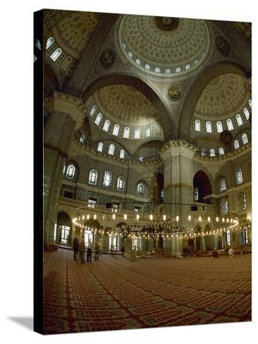 Turkey. Istanbul. New Mosque or Yeni Cami. 16th-17th Century. Prayer Room--Stretched Canvas Print