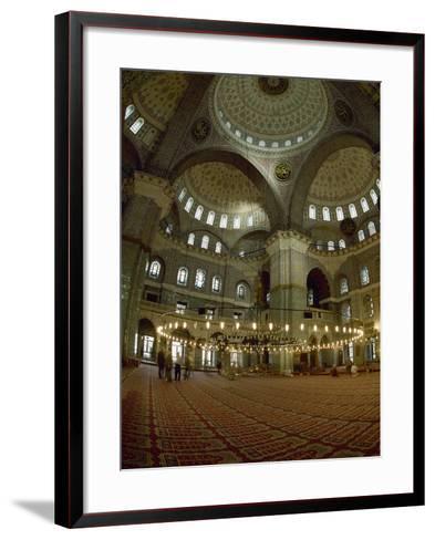 Turkey. Istanbul. New Mosque or Yeni Cami. 16th-17th Century. Prayer Room--Framed Art Print