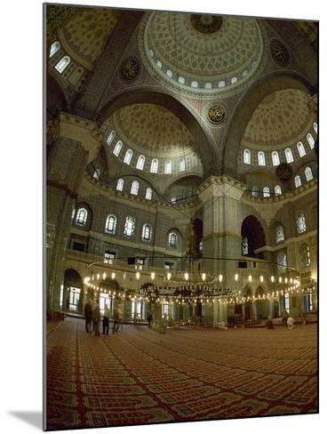 Turkey. Istanbul. New Mosque or Yeni Cami. 16th-17th Century. Prayer Room--Mounted Photographic Print