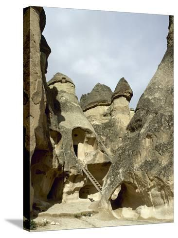 Turkey. Cappadocia. Pasabaglari. Monk's Valley. Cave House. Detail. Central Anatolia--Stretched Canvas Print