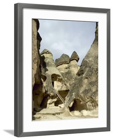 Turkey. Cappadocia. Pasabaglari. Monk's Valley. Cave House. Detail. Central Anatolia--Framed Art Print