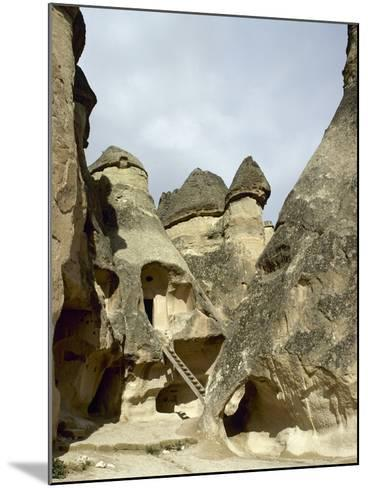 Turkey. Cappadocia. Pasabaglari. Monk's Valley. Cave House. Detail. Central Anatolia--Mounted Photographic Print