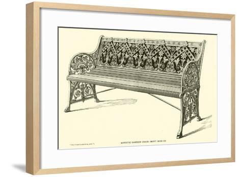 Artistic Garden Chair, Mott Iron Company--Framed Art Print