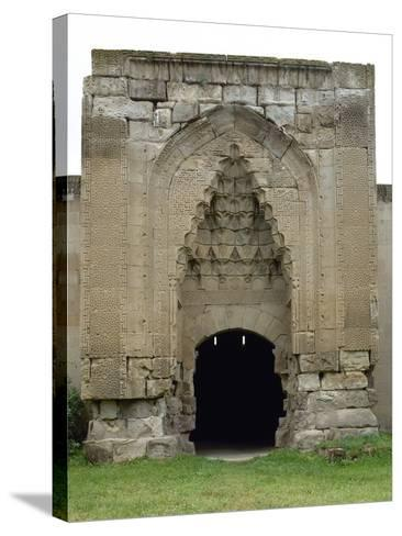 Turkey. Aksaray Province. Sultanhan? Caravanserai. Built at 13th Century. Seljuq Style. Portal--Stretched Canvas Print