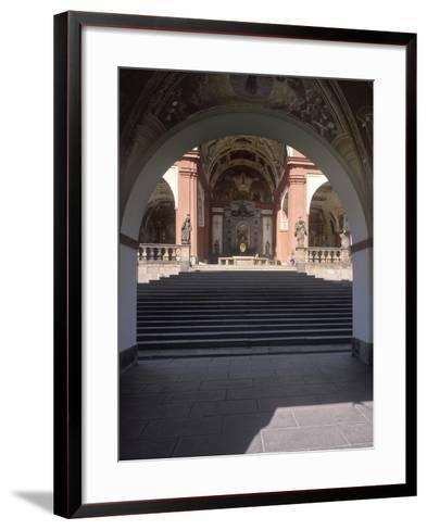 Staircase to the Chapel of the Visitation, also Called the Coronation Chapel, at Svatá Hora--Framed Art Print