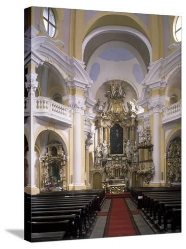 View of the Interior of the Church of St. Mary Magdalene, Karlovy Vary, Czech Republic--Stretched Canvas Print