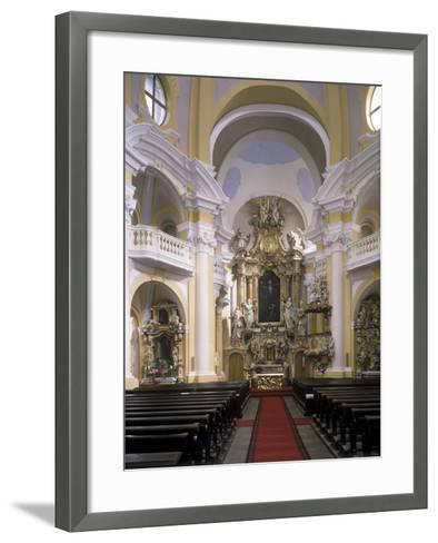 View of the Interior of the Church of St. Mary Magdalene, Karlovy Vary, Czech Republic--Framed Art Print