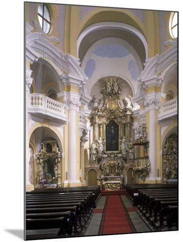 View of the Interior of the Church of St. Mary Magdalene, Karlovy Vary, Czech Republic--Mounted Photographic Print