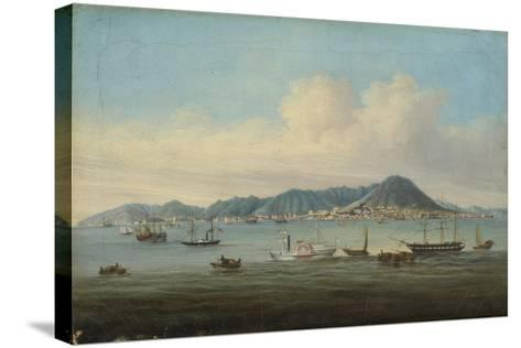 View of Hong Kong, 1850--Stretched Canvas Print